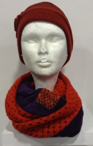snood orange et violet